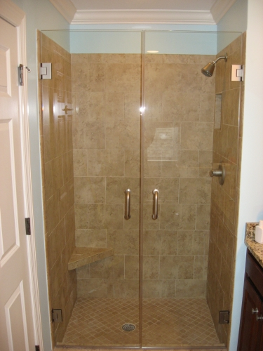 Frameless Glass Shower Enclosures | All South Granite LLC